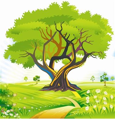 一边倾听和风轻摇树枝的沙沙声响,一边仔细观看有没有卷叶和毛虫,要不